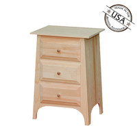 Nightstand With 3 Drawers And Slanted Top
