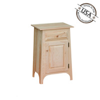 American Pride One Drawer One Door Nightstand With Slanted Sides