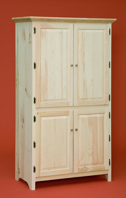 Pantry Cabinet With 4 Raised Panel Doors