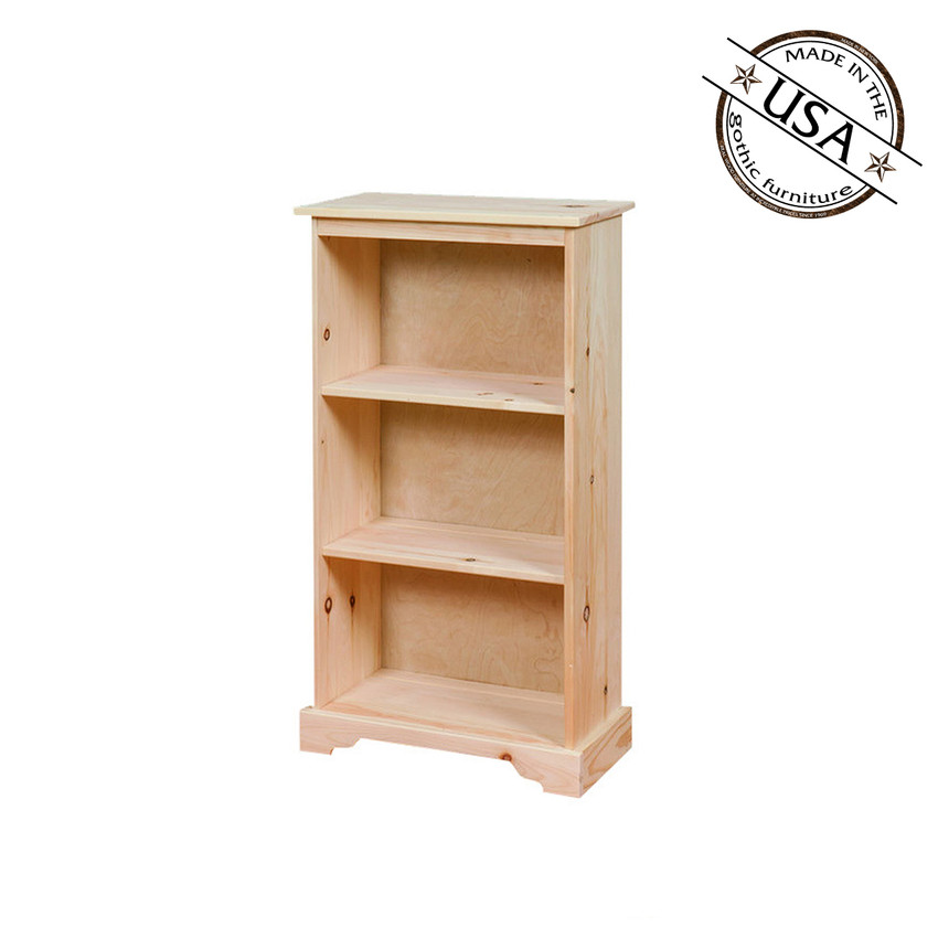 country bookcase with 2 shelves 22 wide. Black Bedroom Furniture Sets. Home Design Ideas