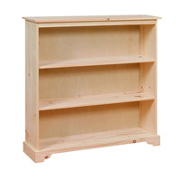 country bookcase with 2 shelves 22 quot wide
