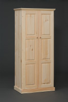American Pride Two Door Raised Panel Wardrobe