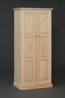 American Pride Two Door Raised Panel Wardrobe
