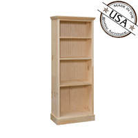 "Bookcase With 3 Adjustable Shelves 20"" Wide & 48"" High"