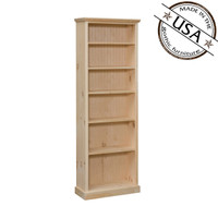 "Bookcase With 5 Adjustable Shelves And 1 Fixed 20"" Wide & 72"" High"