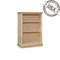 "Bookcase With 2 Adjustable Shelves 26"" Wide & 36"" High"