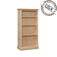 "Bookcase With 3 Adjustable Shelves 26"" Wide & 48"" High"