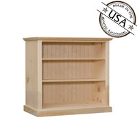 "Bookcase With 2 Adjustable Shelves 38"" Wide & 36"" High"