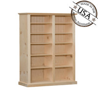 "Bookcase With 10 Shelves 50"" Wide & 72"" High"