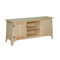 """TV Stand With  Slanted Top 48"""" Wide"""