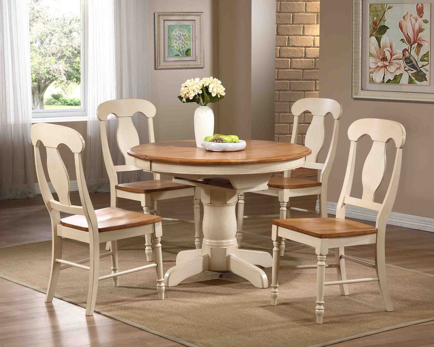 Butterfly Leaf Table 42 Round Caramel Biscotti Finish