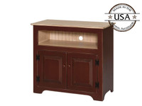 TV Console with 2 Raised Panel Doors