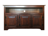 """TV Console with 3 Raised Panel Doors 50.5"""" Wide"""