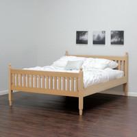 Queen Shaker Sleigh Bed