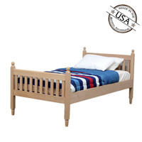 CLEARANCE - Twin Shaker Sleigh Bed