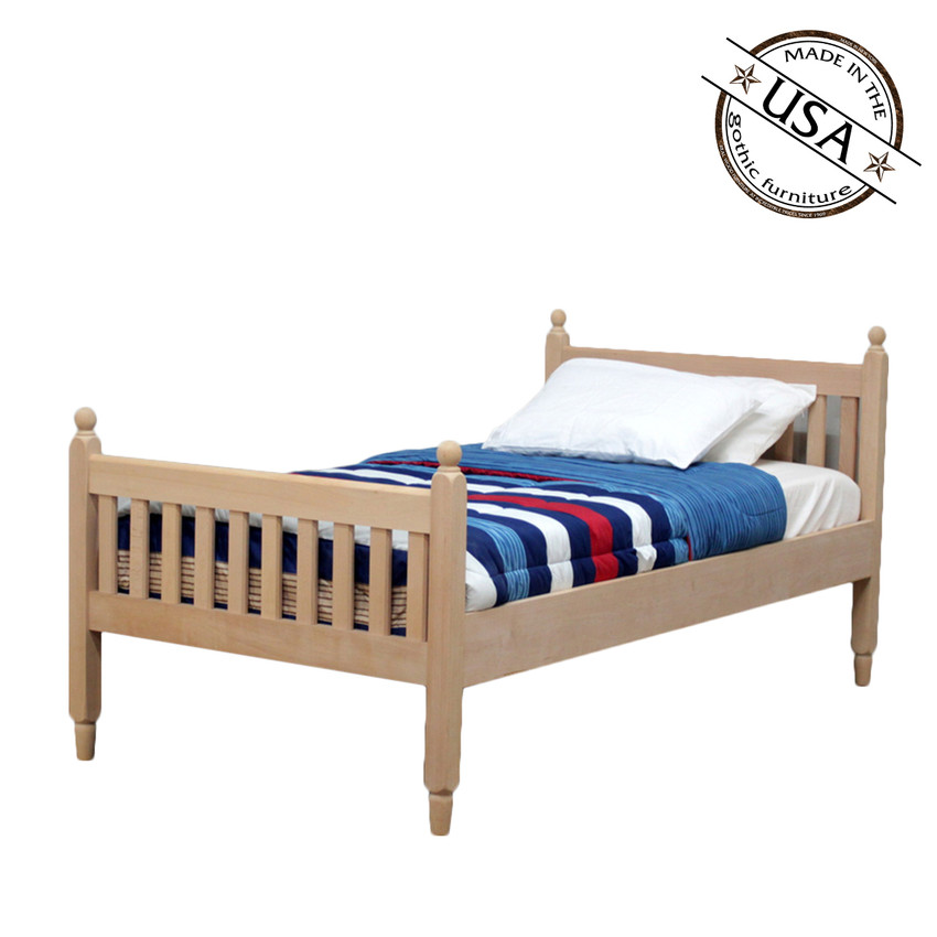Twin Shaker Sleigh Bed