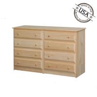 Dresser With  8 Beveled Edge Drawers