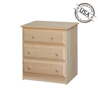 Nightstand With 3 Beveled Edge Drawers