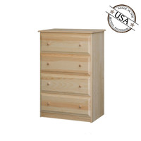 Chest With 4 Beveled Edge Drawers