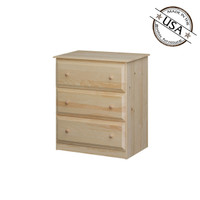 Chest With 3  Beveled Edge Drawers