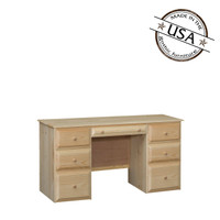 Riverdale Beveled Edge Desk with 7 Drawers