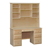 Riverdale Desk & Hutch With 7 Beveled Edge Drawers