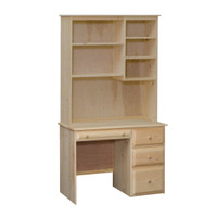 Riverdale Desk & Hutch With 4 Beveled Edge Drawers