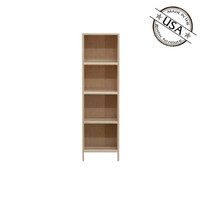 Astoria Plain Wainscoting Bookcase  With 3 Fixed Shelves