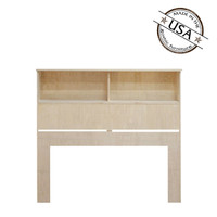 "Full / Queen Bookcase Headboard (46"" High) in Oak"