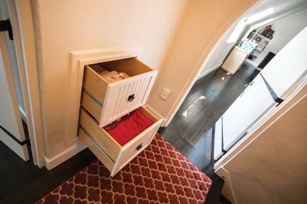 Custom Made Built In Drawers Inside Wall
