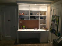 CUSTOM - Built in Kids Office Desk & Hutch