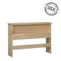 "Full Bookcase Headboard (48"" High) in Pine"