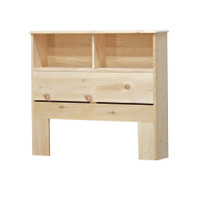 "Twin Bookcase Headboard (36"" High) in Pine"