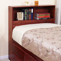 "Bookcase Headboard (46"" High), Twin"