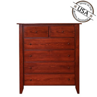 Shaker Six Drawer Chest in Pine