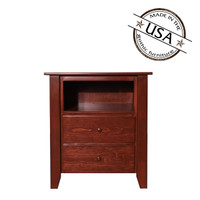 Shaker Two Drawer Nightstand in Pine