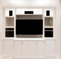 CUSTOM - Modern Entertainment Center in  White
