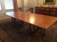CUSTOM - Expanding Gateleg Table in Maple