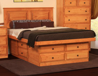 Riverdale Full Platform Storage Bed In Pine
