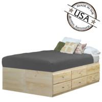 King Storage Bed 12 Drawers