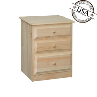 Riverdale Nightstand 3 Drawers
