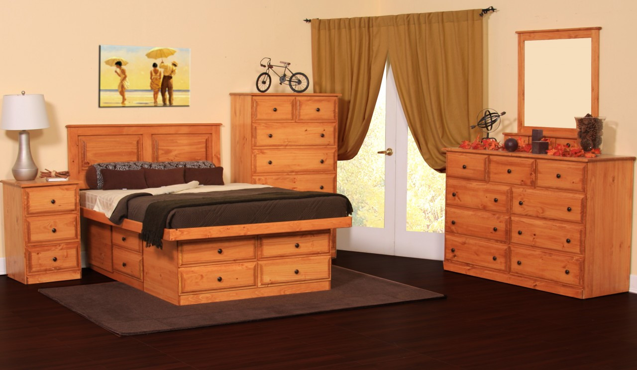Bed twin bunk bed w 6 drawers pine gothic cabinet craft for Gothic cabinet craft platform bed