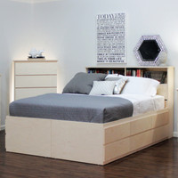 King Storage Bed with 10 Drawers & 2 Doors
