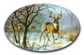 SafeArt Magnet Picture - Winter Sunrise, Buck Deer