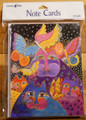 Leanin Tree 8 Pack Card Set - Laurel Burch Colorful Cats & Butterflies
