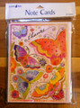 Leanin Tree 8 Pack Card Set - Thanks! Laurel Burch Colorful Butterflies