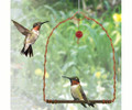 Copper Hummingbird Swing with Red Glass Bead