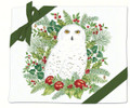 Alice's Cottage Set of 2 Cotton Flour Sack Towels WINTER SNOWY OWL