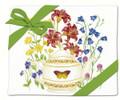Alice's Cottage Set of 2 Cotton Flour Sack Towels BUTTERFLY FLOWER TEAPOT