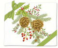 Alice's Cottage Set of 2 Cotton Flour Sack Towels HOLIDAY PINECONES